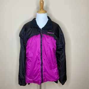 Marmot Dri Clime Black & Purple Windbreaker Jacket